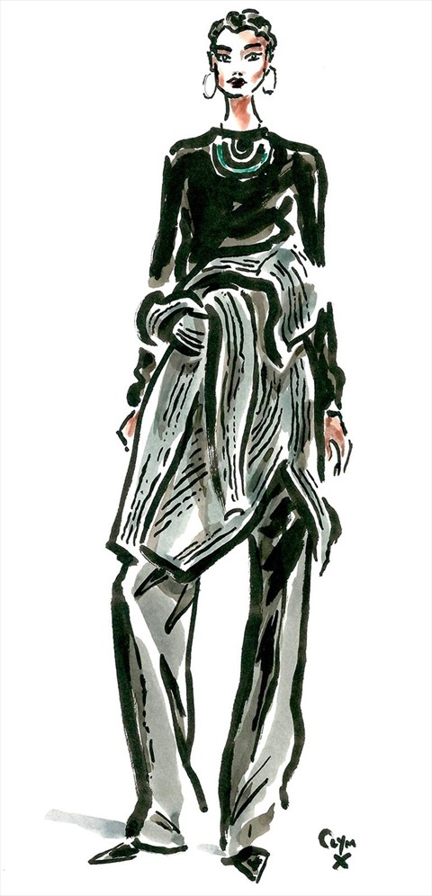 Line Drawing Jumper : Six rules of céline fall another