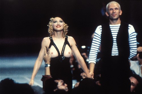 Madonna and Jean Paul Gaultier at amFAR, 1992