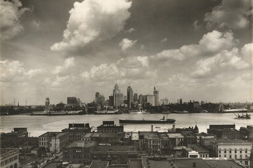 Detroit skyline, as seen from Windsor, Ontario, 1929