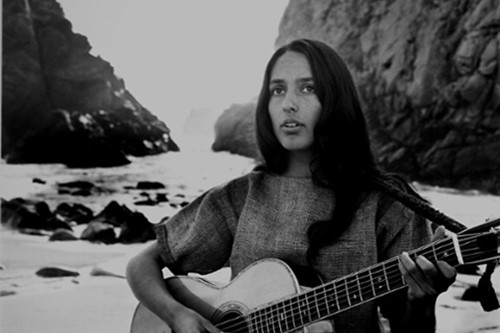 Joan Baez on the beach near her home, 1962