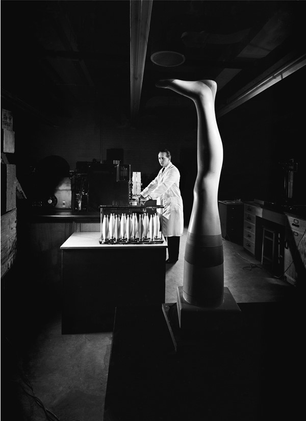 Nylon Stocking Testing Laboratory, Pontypool, Wales, 1957