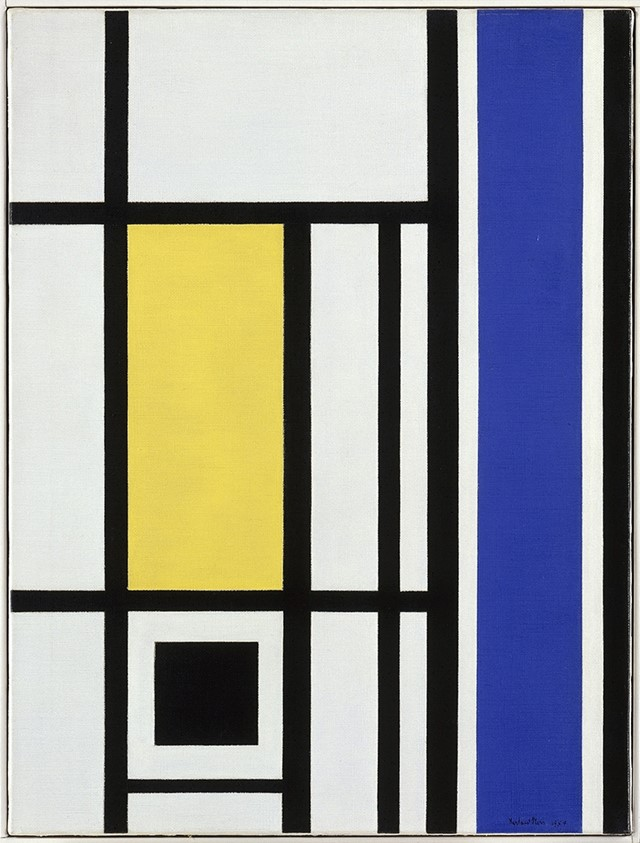 Marlow Moss, White, Black, Yellow and Blue, 1954