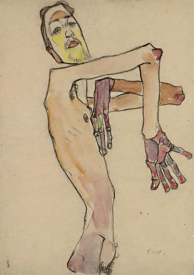 Egon Schiele, Erwin Dominik Osen, Nude with Crossed Arms, 19
