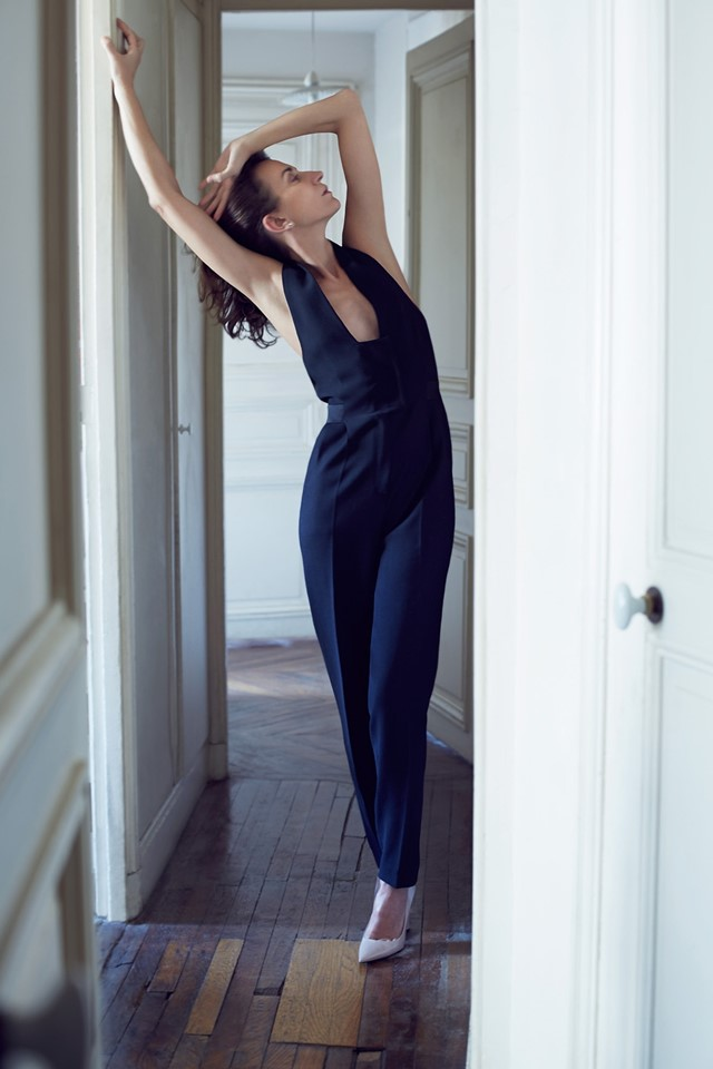 Violeta Sanchez in jumpsuit by Pallas, shoes by Lanvin