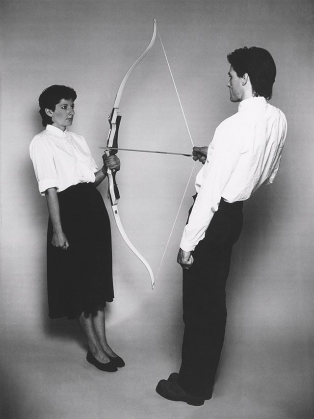 Rest Energy by Marina Abramović and Ulay, 1980