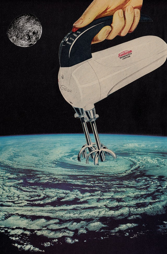Joe Webb, Stirring Up A Storm, Original Collage