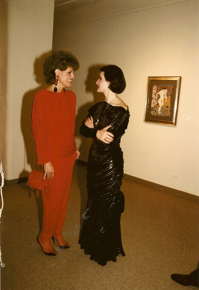 Sandy Schreier with Paloma Picasso