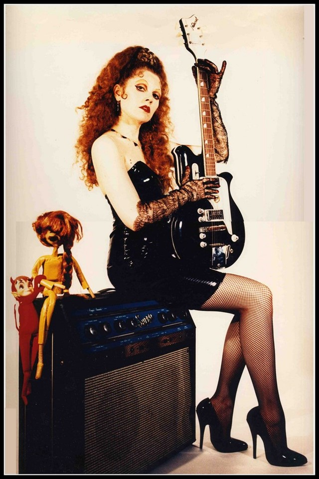 Poison ivy rorschach of the cramps los angeles 1994 photography by