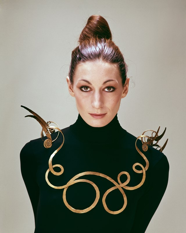 Anjelica Huston wearing The Jealous Husband (c. 19