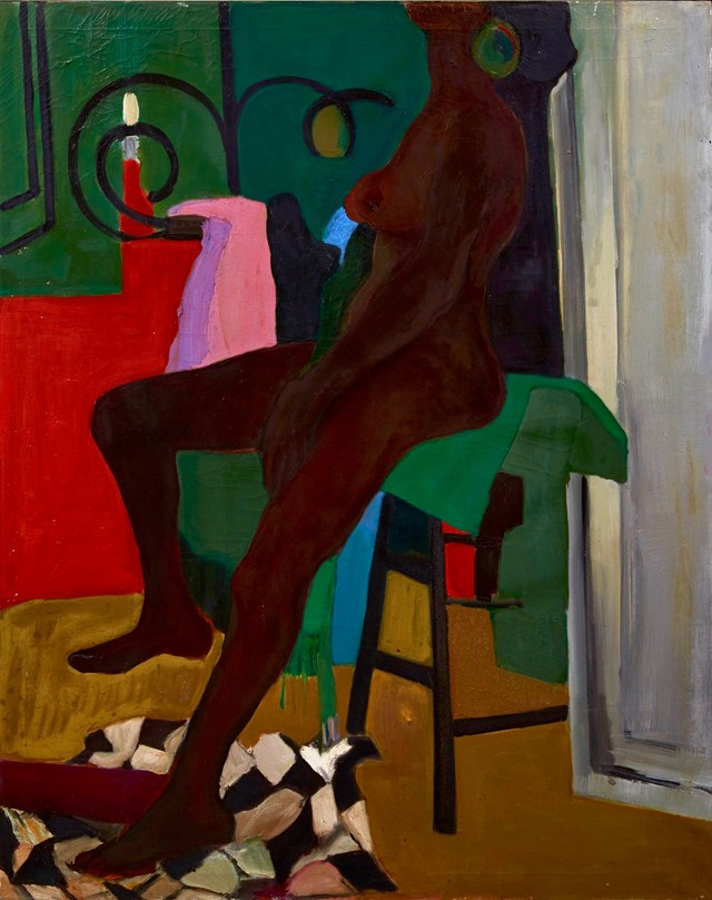 Lounging Nude (1969), Oil on canvas, 127 x 101 cm.