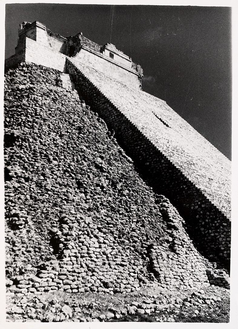 Josef Albers, Untitled (Pyramid of the Magician, Uxmal, Mexi