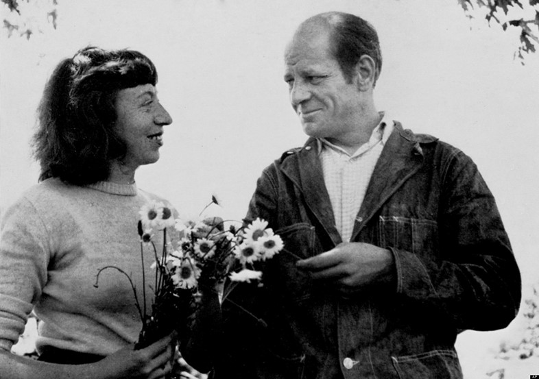 Jackson Pollock with his wife Lee Krasner, 1949