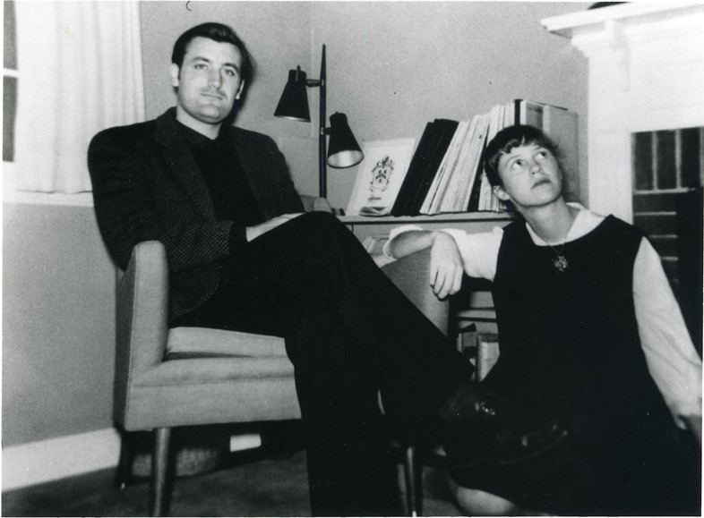 Sylvia Plath and Ted Hughes in Concord, shortly before movin