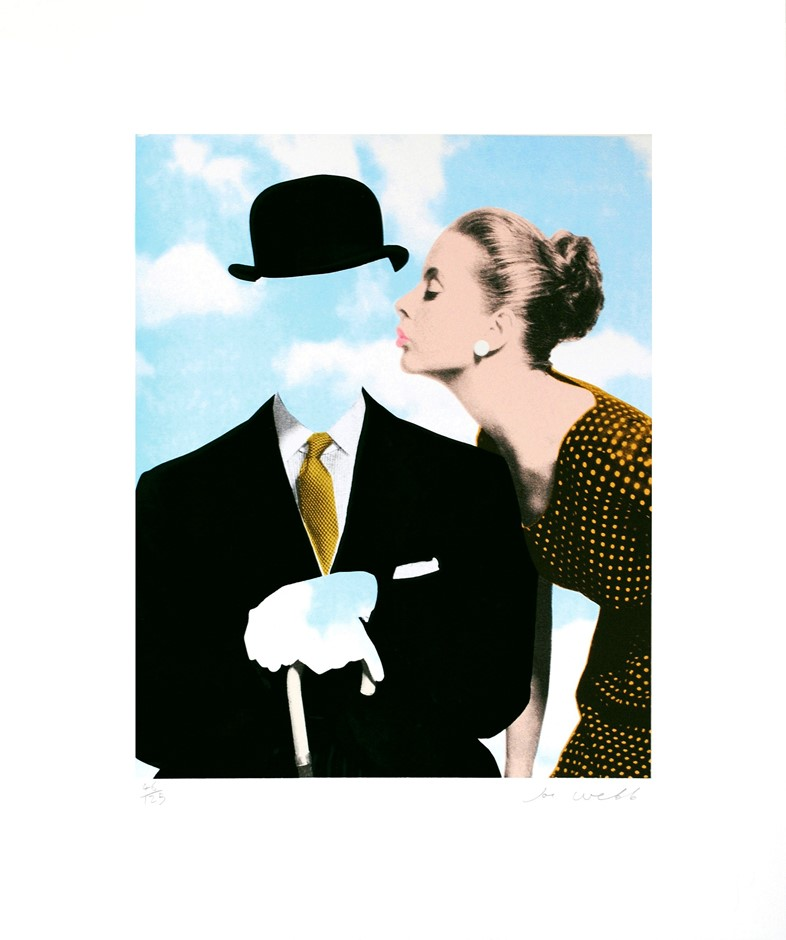 Joe Webb, Kissing Magritte, Silkscreen on paper