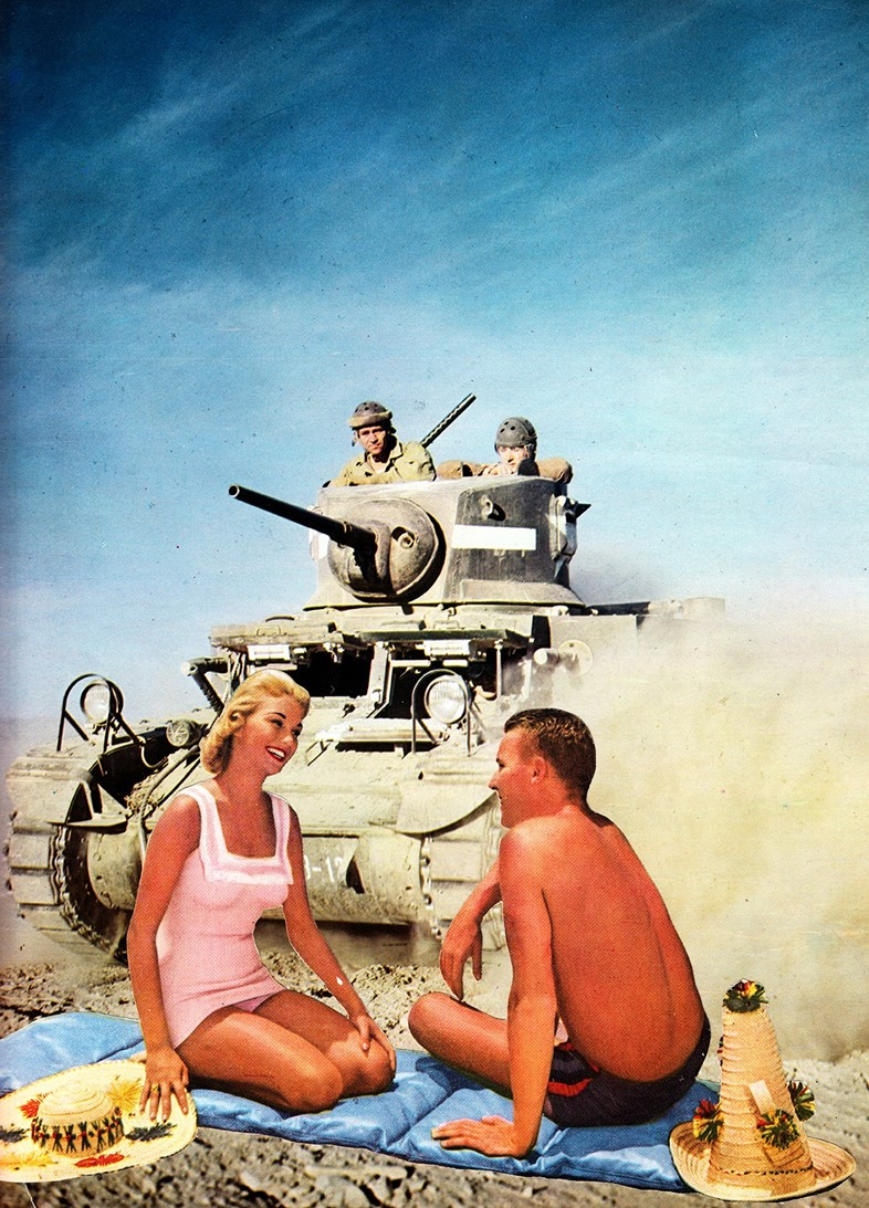 Joe Webb, Life's A Beach, Original Collage