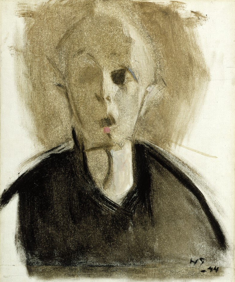 Helene Schjerfbeck, Self-Portrait with Red Spot, 1944