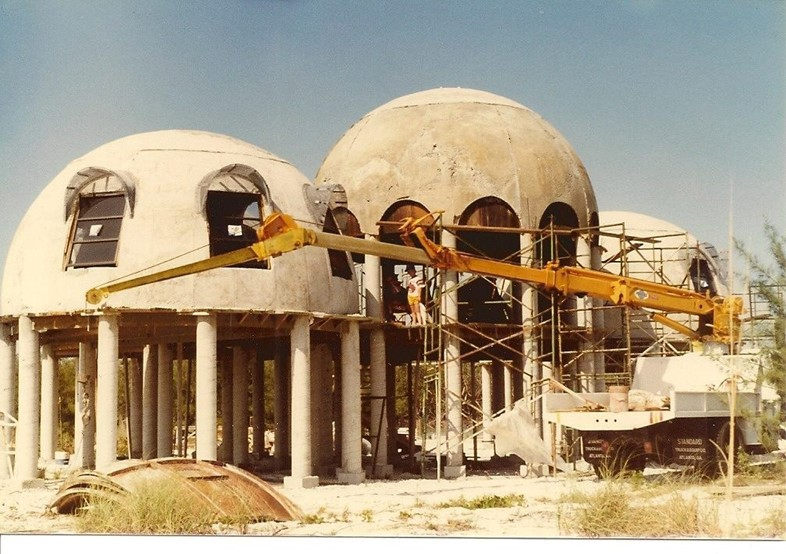 The Dome House under construction