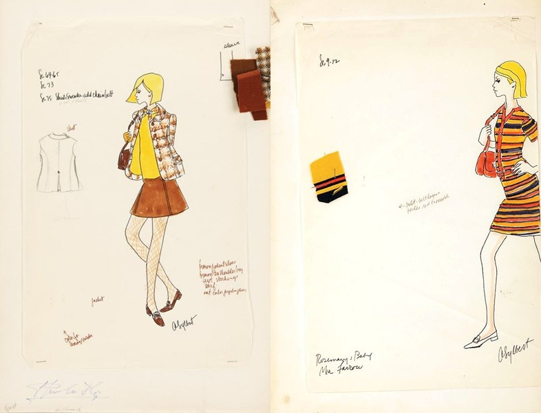 Andrea Sylbert's Costume Sketch for Rosemary's Baby (1968)