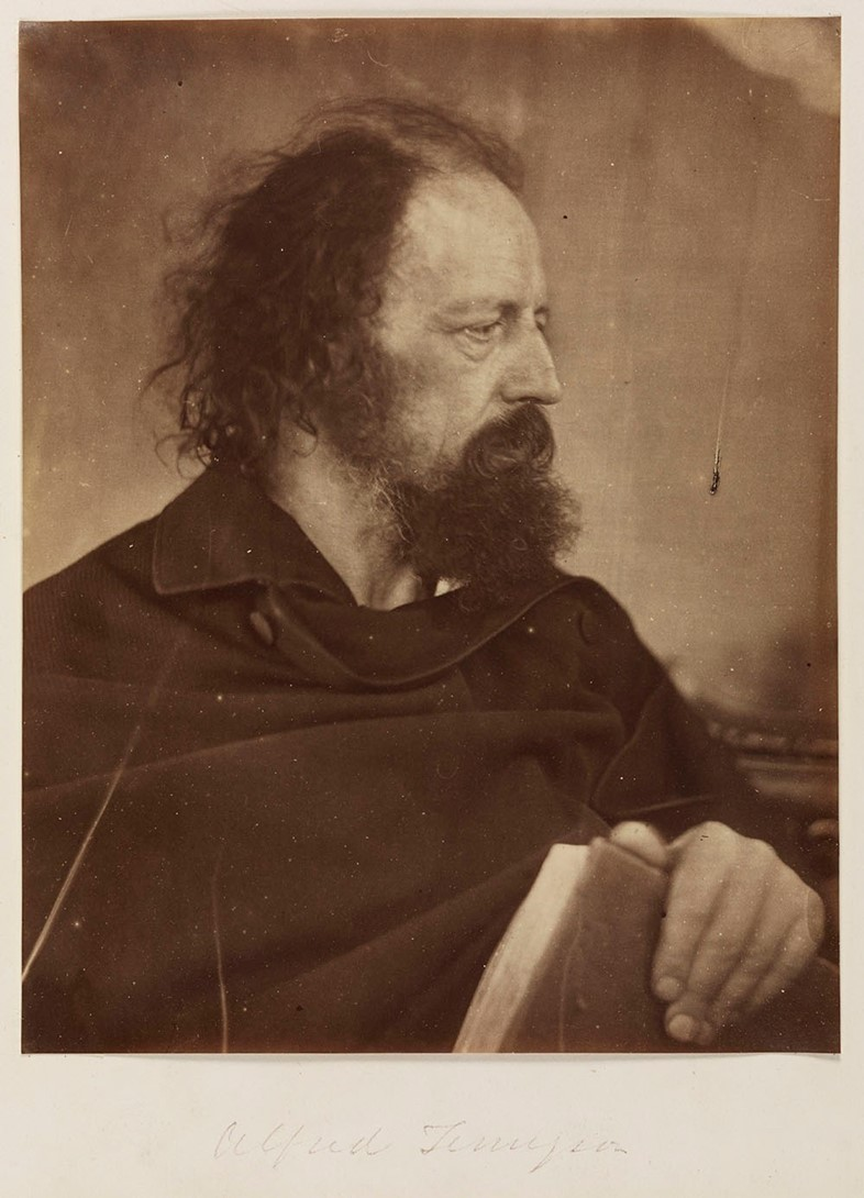 Alfred Tennyson with Book, May 1865, Julia Margare