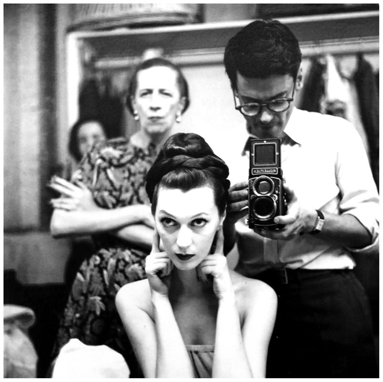 Dovima with Richard Avedon and Diana Vreeland