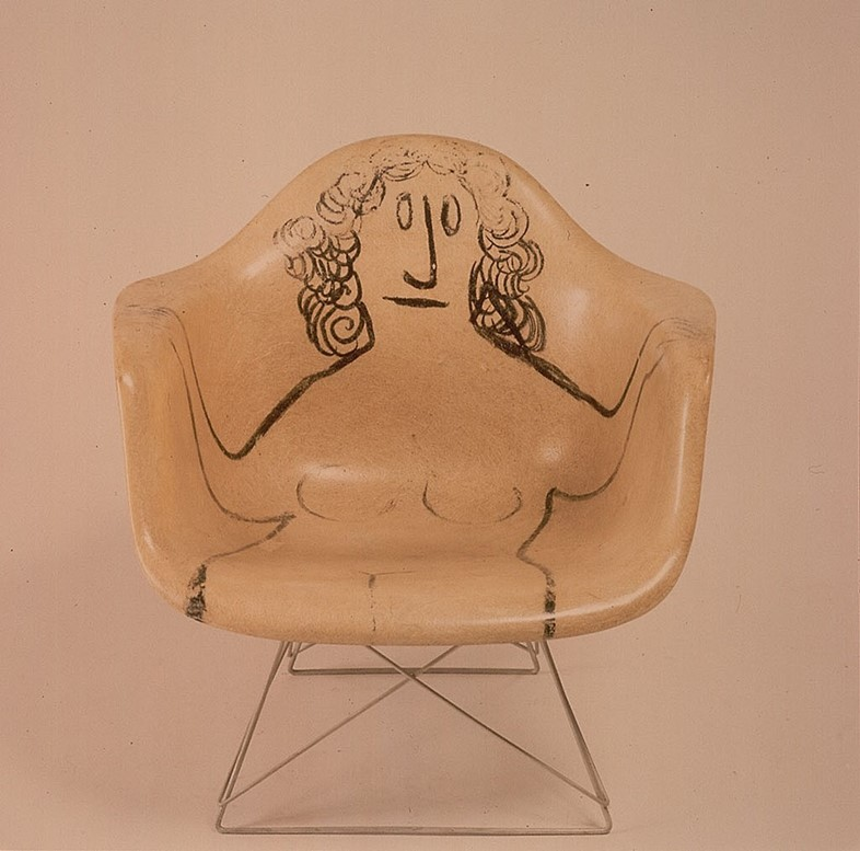 LAR with drawing by Saul Steinberg, c.1950