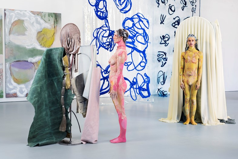 Donna Huanca, SCAR CYMBALS, 2016, performance view
