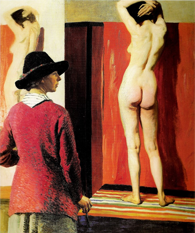 Self Portrait and Nude 1913 NPG -15