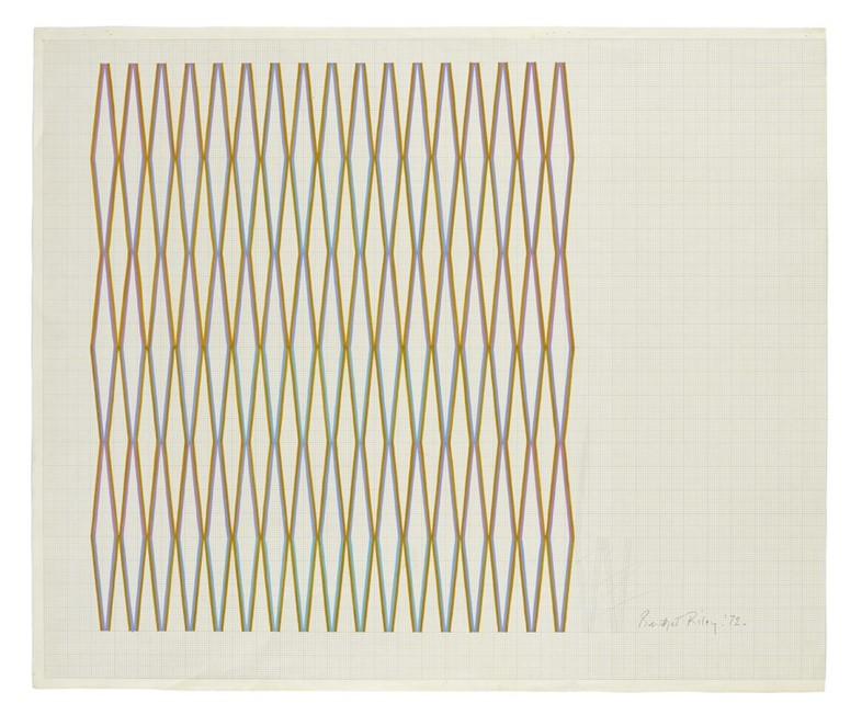 Bridget Riley, Towards 'Little Diamond', 1972, Gou