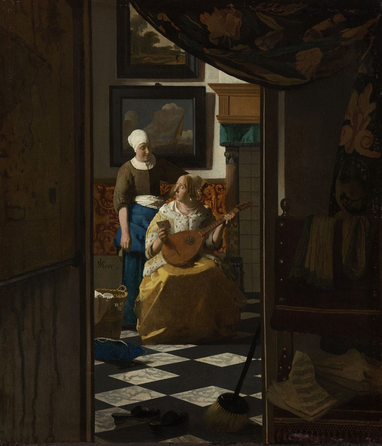 Johannes-Vermeer-(1632-to-1675),-The-Love-Letter,-