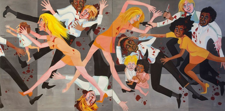 Faith-Ringgold,-America-People-#20-Die