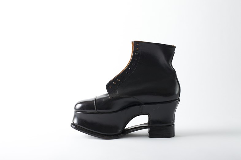 Orthopaedic Derby boot. Cordwainers College studen