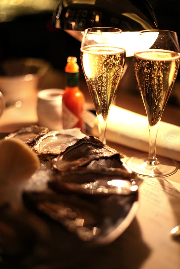 Oysters and champagne at J Sheekey