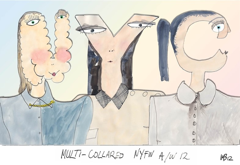 NYFW A/W12: Multi-collared