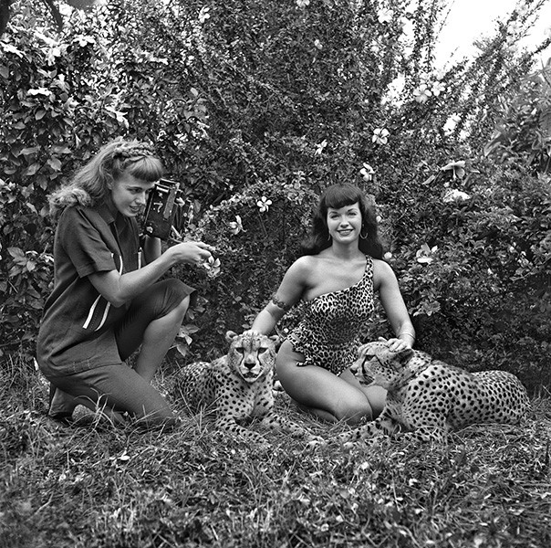 Bettie Page, Africa USA, Safari Park, Boca Raton, Florida, 1