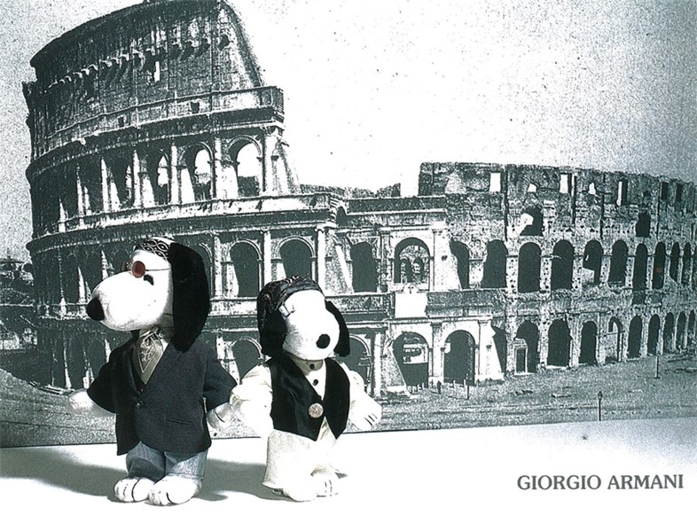Snoopy dressed by Giorgio Armani