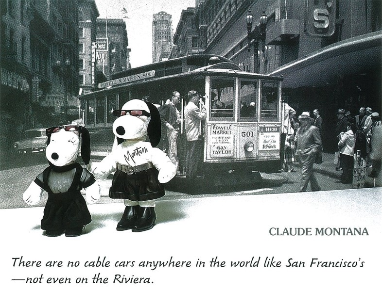 Snoopy dressed by Claude Montana
