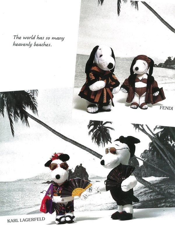Snoopy dressed by Fendi and Karl Lagerfeld