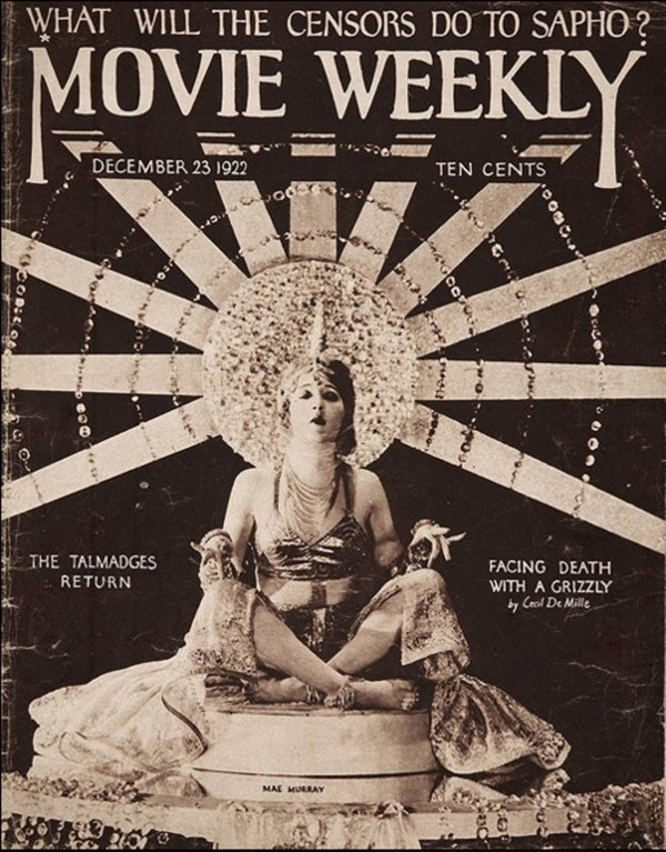 Mae Murray on the cover of Movie Weekly, December 1922