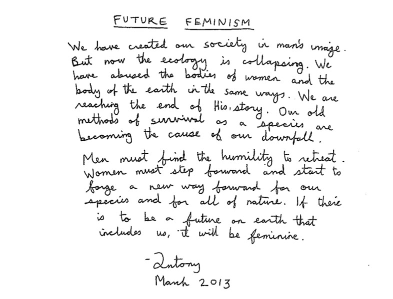 Future Feminism for Givenchy A/W13 by Antony Hegarty