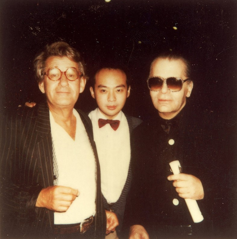 Helmut Newton, Dave and Karl Lagerfeld