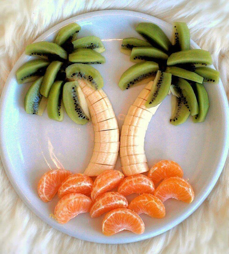 Tropical fruit plate