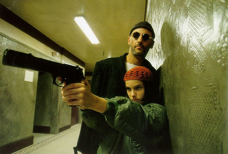 Jean Reno and Natalie Portman in Léon, 1994