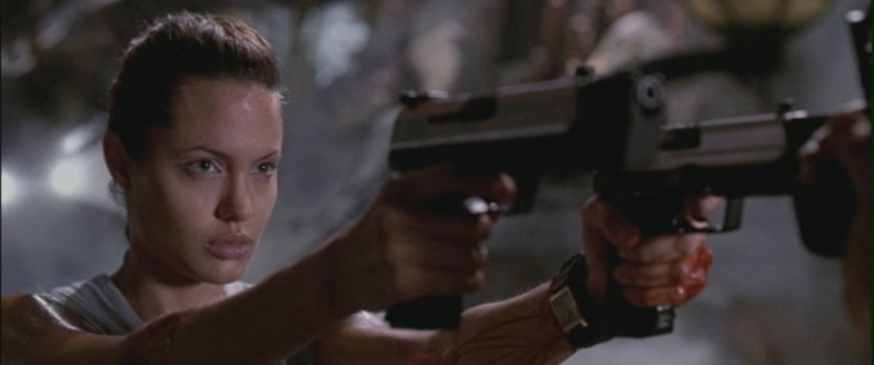 Angelina Jolie as Lara Croft in Tomb Raider, 2001