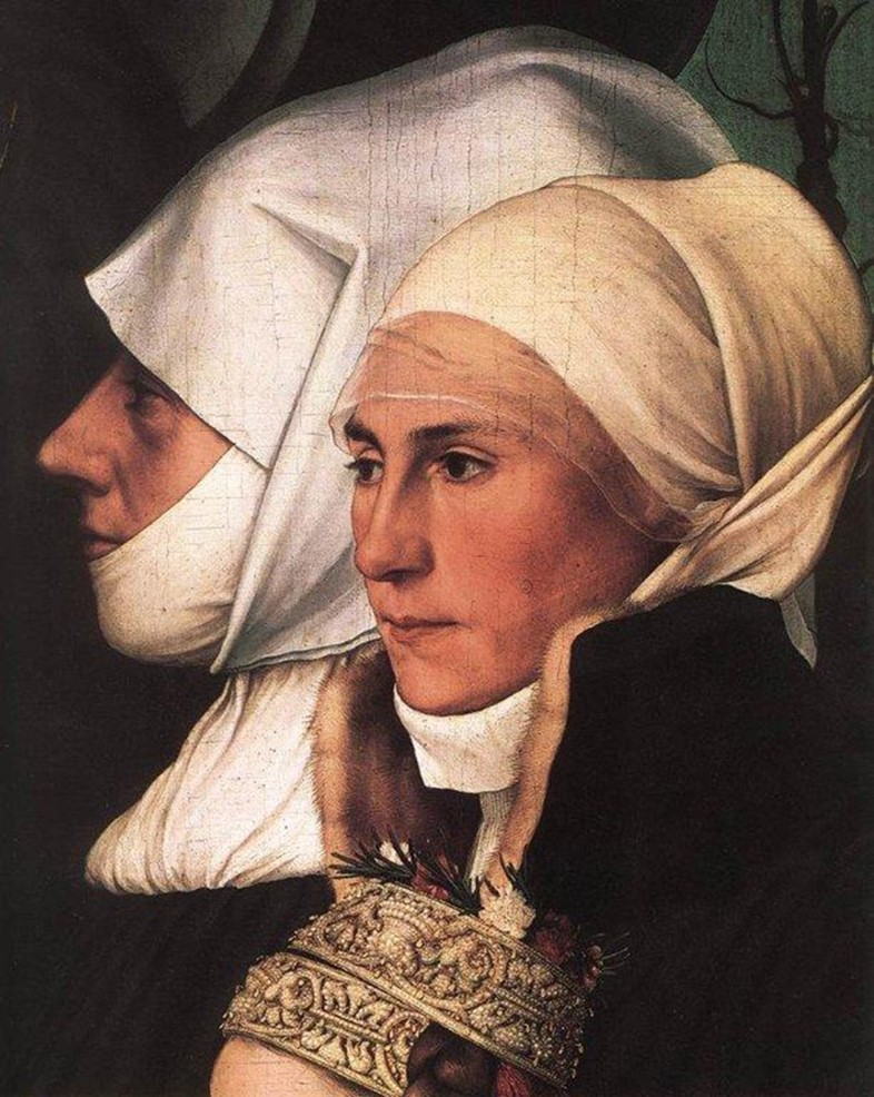 Hans Holbein the Younger (1498-1543), Detail Darmstadt Madon