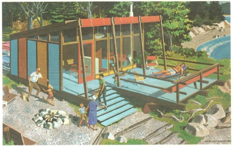 Design No. 7: Three Stage Beach Cabin