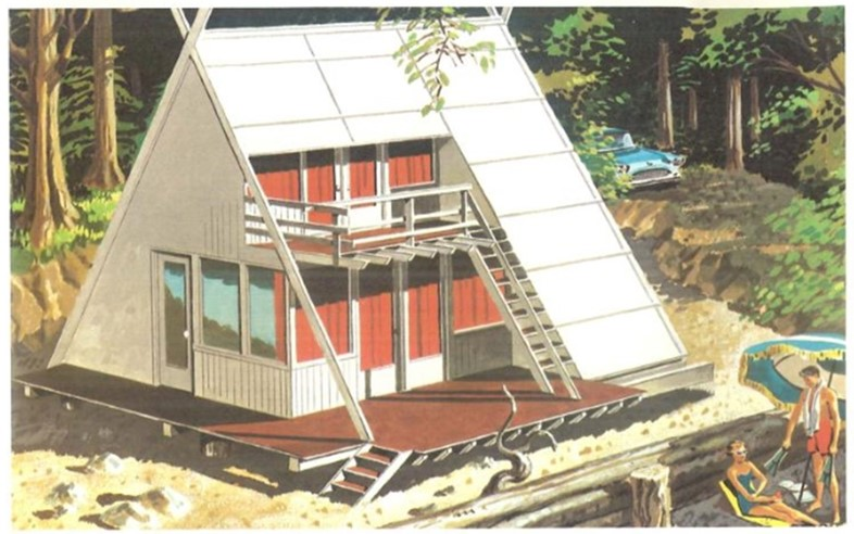 Design No. 4: Double Deck A-Frame Beach Cabin