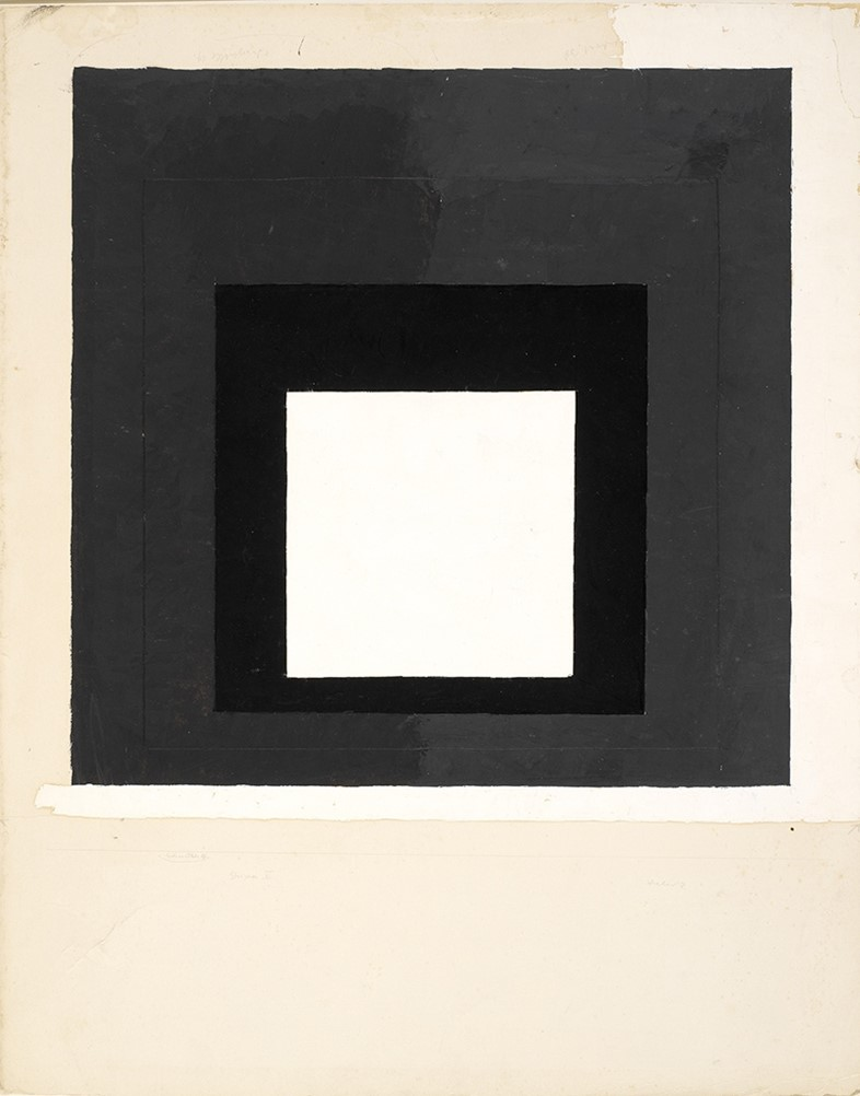 Josef Albers, Colour study for Homage to the Square, c1950