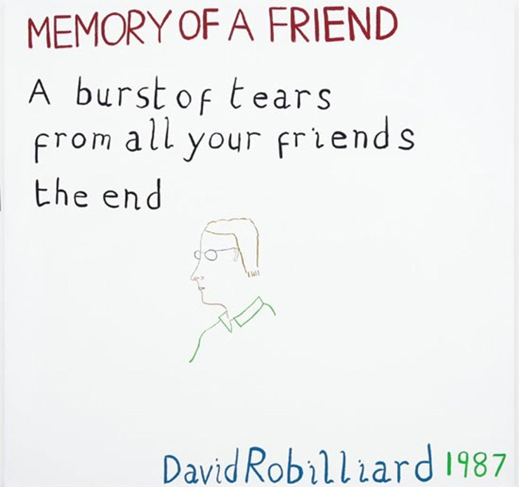 Memory of a Friend, 1987