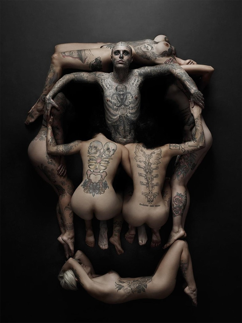 Rick Genest for Rebel Ink, inspired by Salvador Dali's Volup
