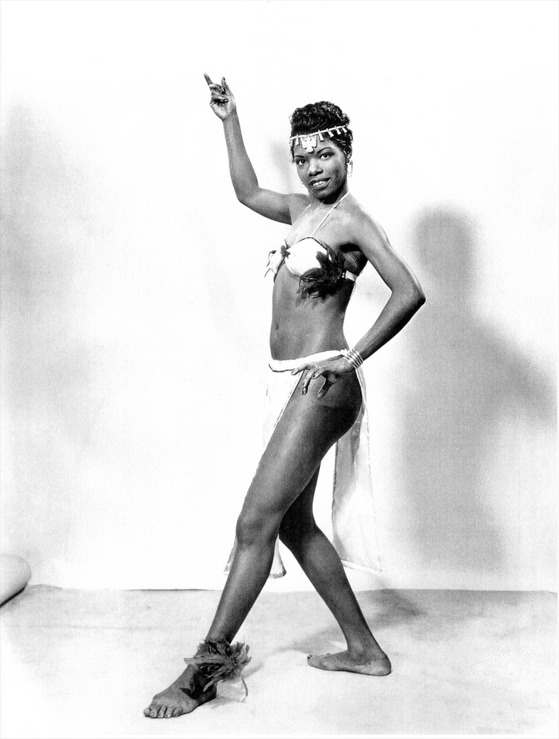 Maya Angelou as a Calypso dancer